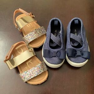 Toddler girl shoes -2 pairs